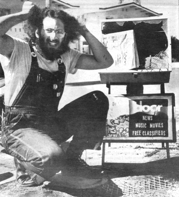 Bill Ritter in a Door ad to discourage vandalizing of the street racks