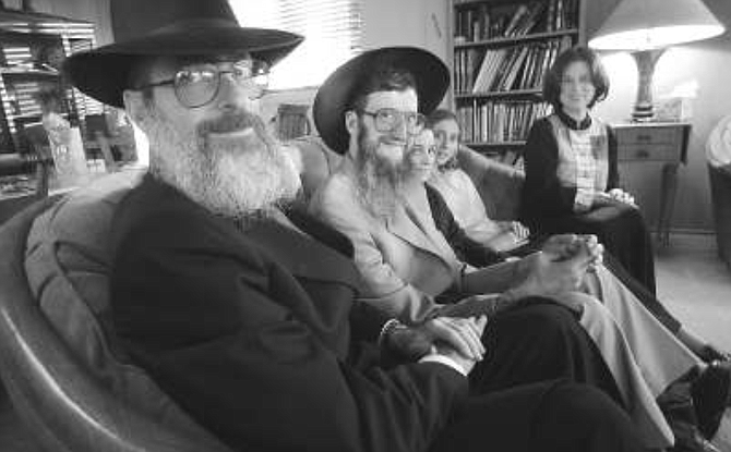 Alan, Yehuda, Esther, Shira, Elisheva. There is harmony here — Alan and Elisheva have realized at least some measure of what they desired. - Image by Sandy Huffaker, Jr.