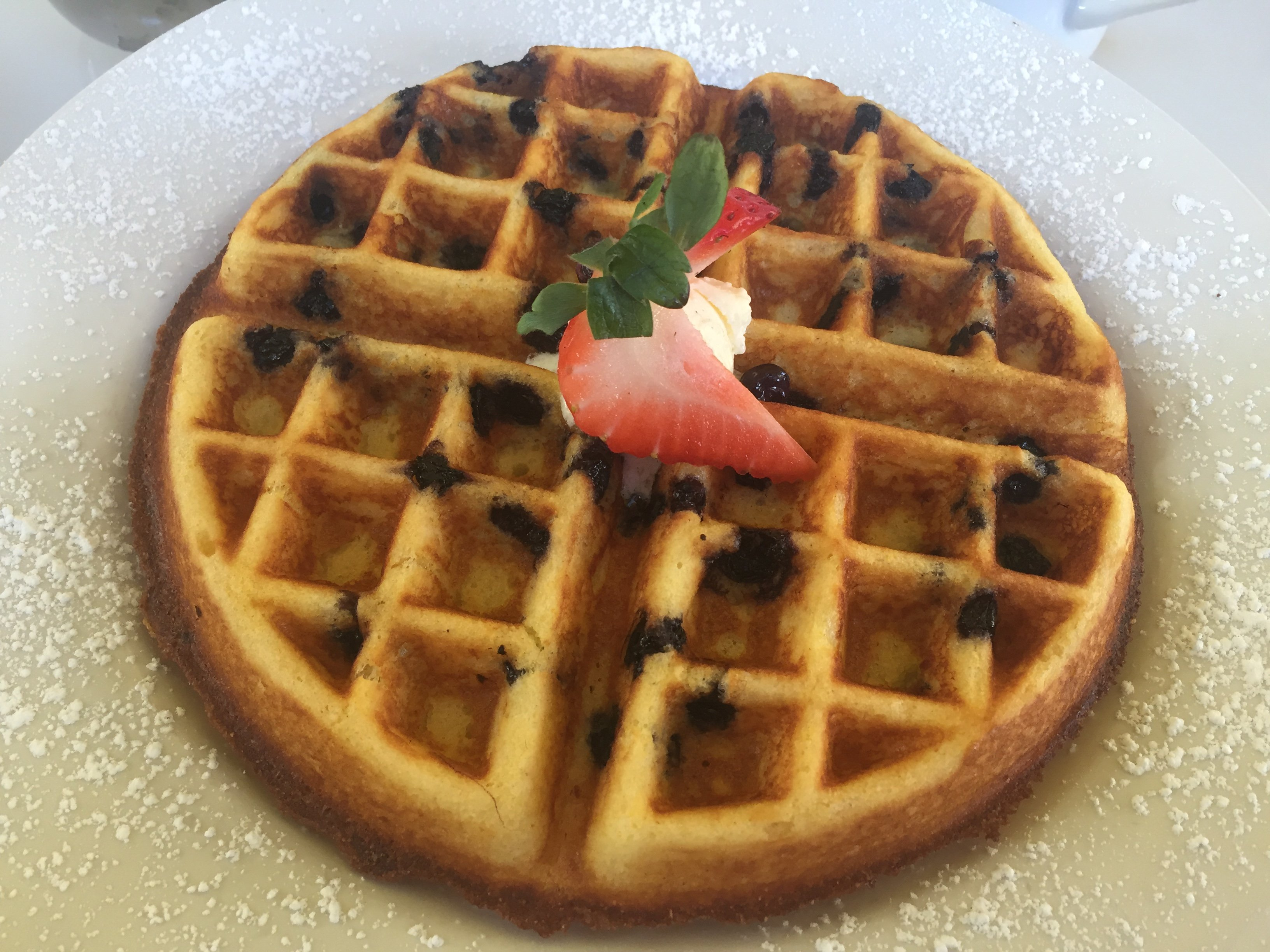 Blueberry Cornbread Waffle