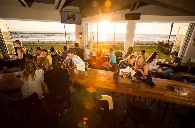 Sunset at Wonderland Ocean Pub