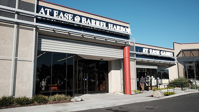 At Ease at Barrel Harbor is a Barrel Harbor Tasting room with an At Ease gaming tournament center in the back.