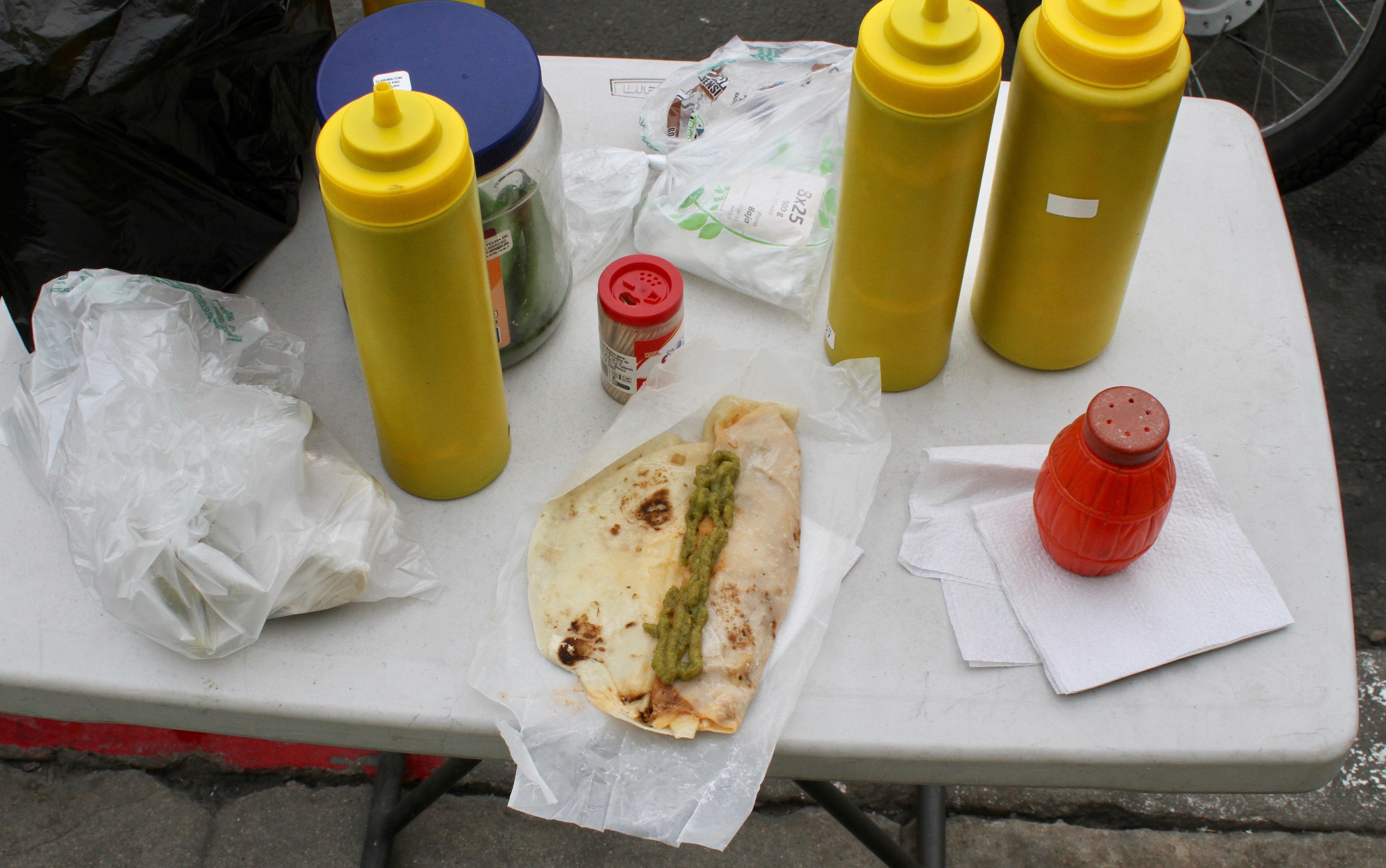 Burrito de desebrada. To go, of course.
