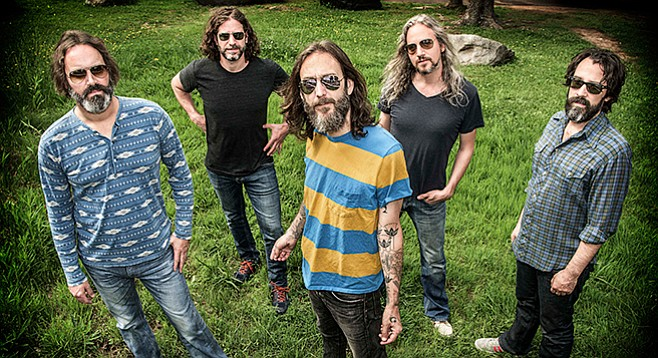 """Chris Robinson (center): """"Dylan's still the reason hundreds of thousands of us came out — we see him as a spark, a pinnacle."""""""
