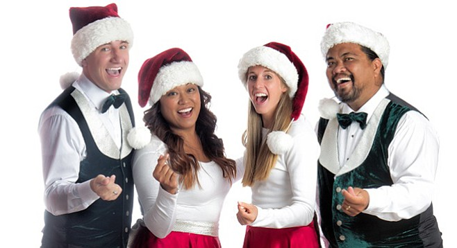 "Full Measure Carolers owner Ryan (second from left) may sing 20 gigs on Christams Eve: ""You're exhausted."""