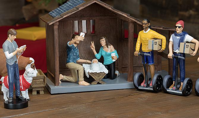 Hipster Nativity Scene from Modern Nativity