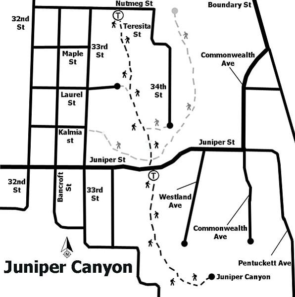 Juniper Canyon trail map