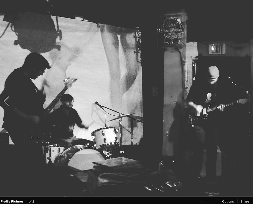 Local shoegaze trio Giant Surprise jacks in at Whistle Stop Sunday night.