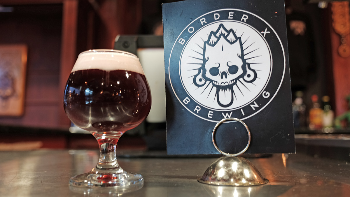 The red-hued Blood Saison that helped Border X win the Startup Brewery Challenge.