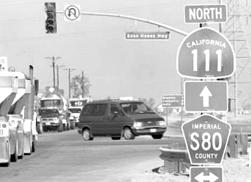 Those on Highway 80 had the right-of-way. West's Ford wagon was going north on California Highway 111 when West ran the boulevard stop sign and hit Dowless's sedan.