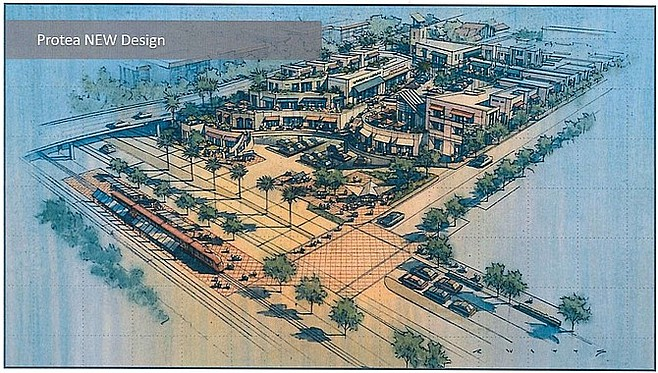 Architectural rendering of the developer's proposed plan