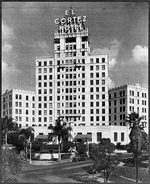 El Cortez Hotel, c. 1948. I wanted to find whatever was left of that slow-moving seaside town of the late '40s and early '50s.