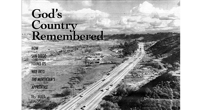 Looking east down Mission Valley, 1951. Time moved slowly. No one seemed to be in a hurry. There was, after all, no place better to go.