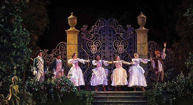 Love's Labor's Lost at the Old Globe showed off costumer Michael Krass's flowering apparel.