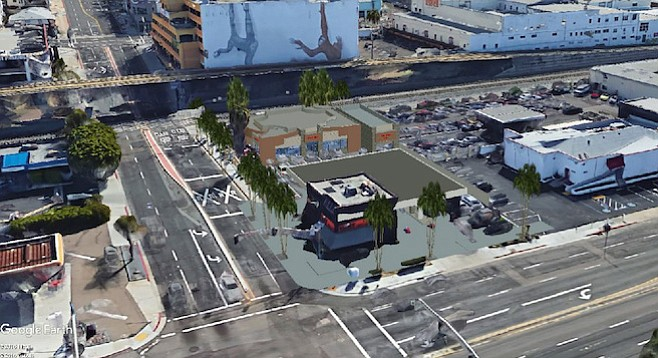 Rendering of proposed Valero station