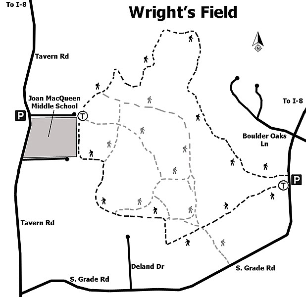 Wright's Field Preserve trail map