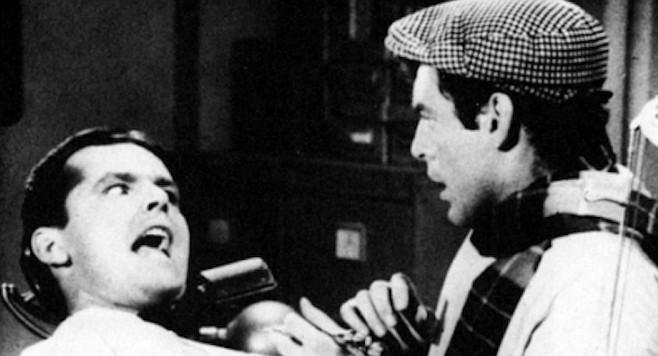 Jack Nicholson dentist scene in Little Shop of Horrors, 1960.
