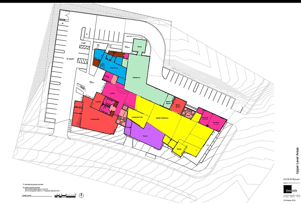 Floor plan of new library