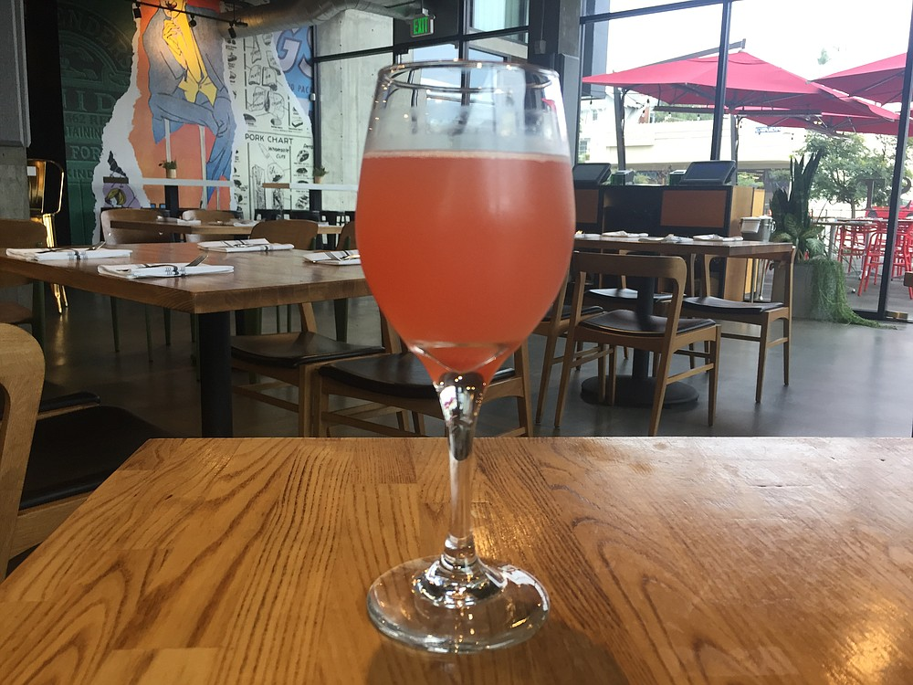 The mimosa flavors change regularly. This one is blood orange and champagne.