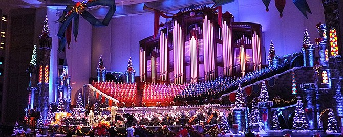 The Mormon Tabernacle Choir: celebrities, such as Celine Dion, often join the Mormons.