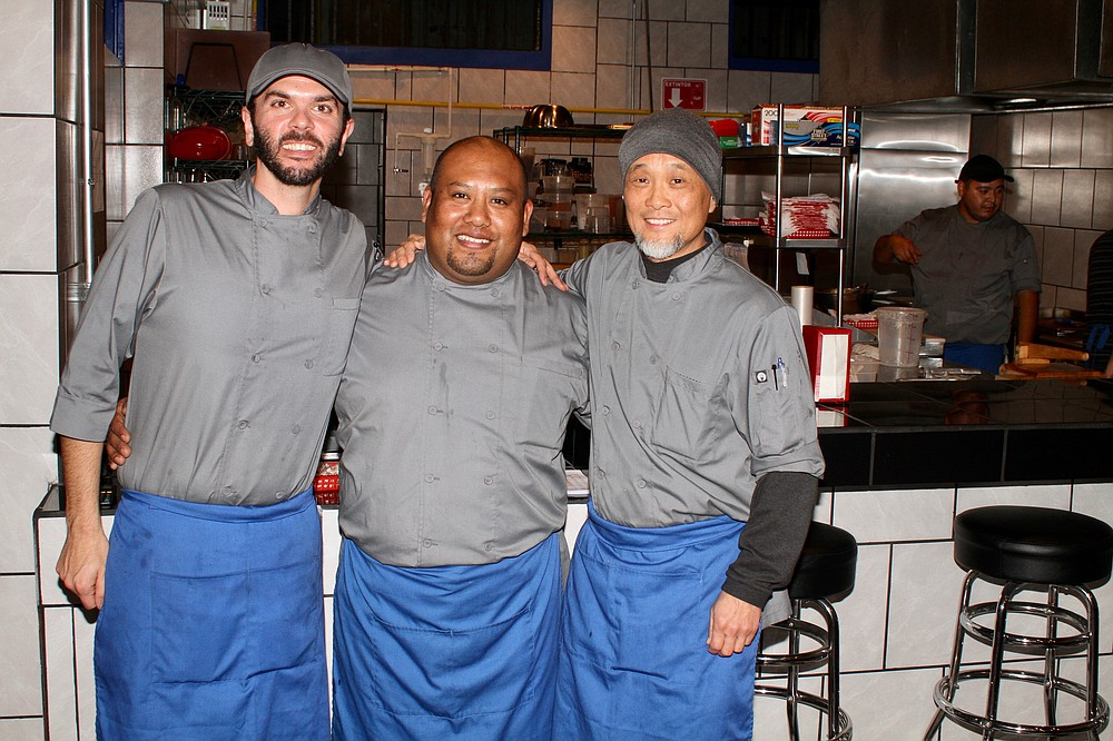 Chefs Anthony Zizzo, Cesar Mendoza, and Jin Son
