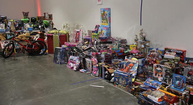 Toys collected for donation mission