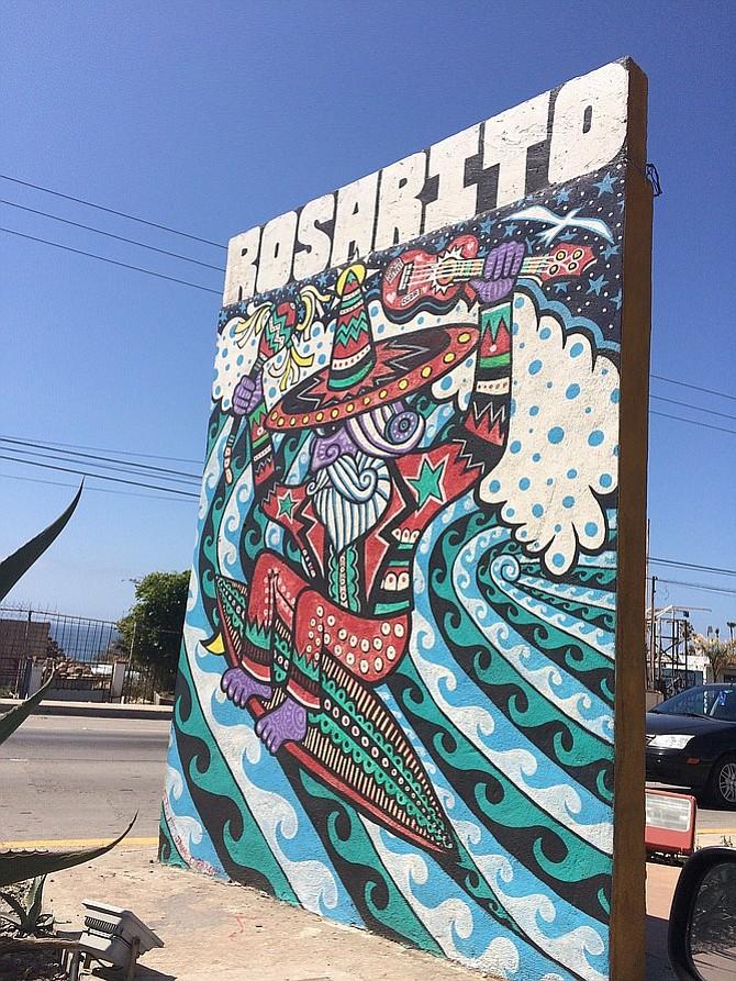 Noticing some local artwork along the roadside in Rosarito.