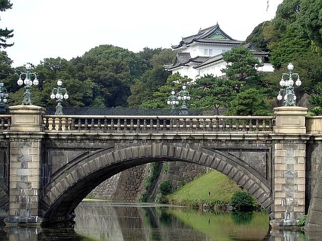 Nijubashi Bridge and Edo Palace.