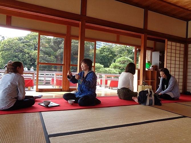 """""""The Way of Tea"""" at Nakajima Tea House in Hama-Rikyu Gardens."""