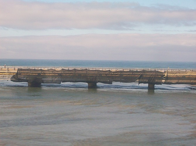North County coastal bridge from Amtrak train.