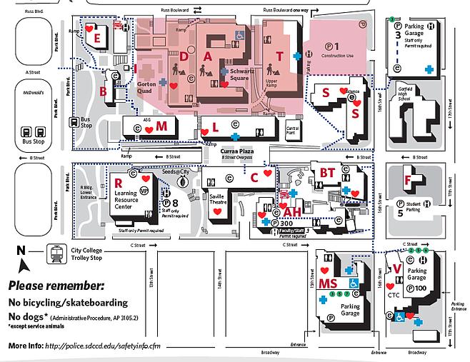 City College campus map