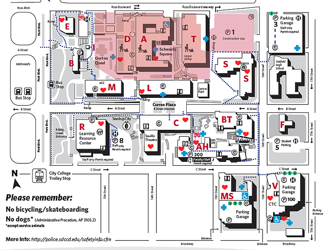 Photo: City College campus map | San Diego Reader