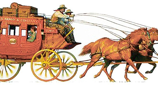 """Wells Fargo was founded on trust. Its logo has long been a strongly sprung six-horse stagecoach."""