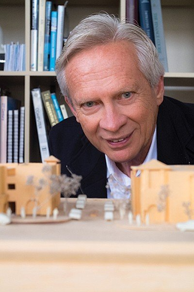 Allard Jansen and his model of Kensington Commons