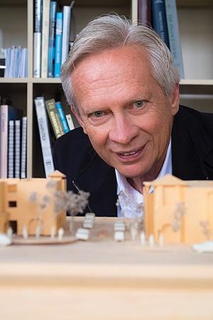 Allard Jansen and his model of Kensington Commons