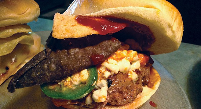 Queenstown's beef jalapeño mini burger, the Kiwilango.