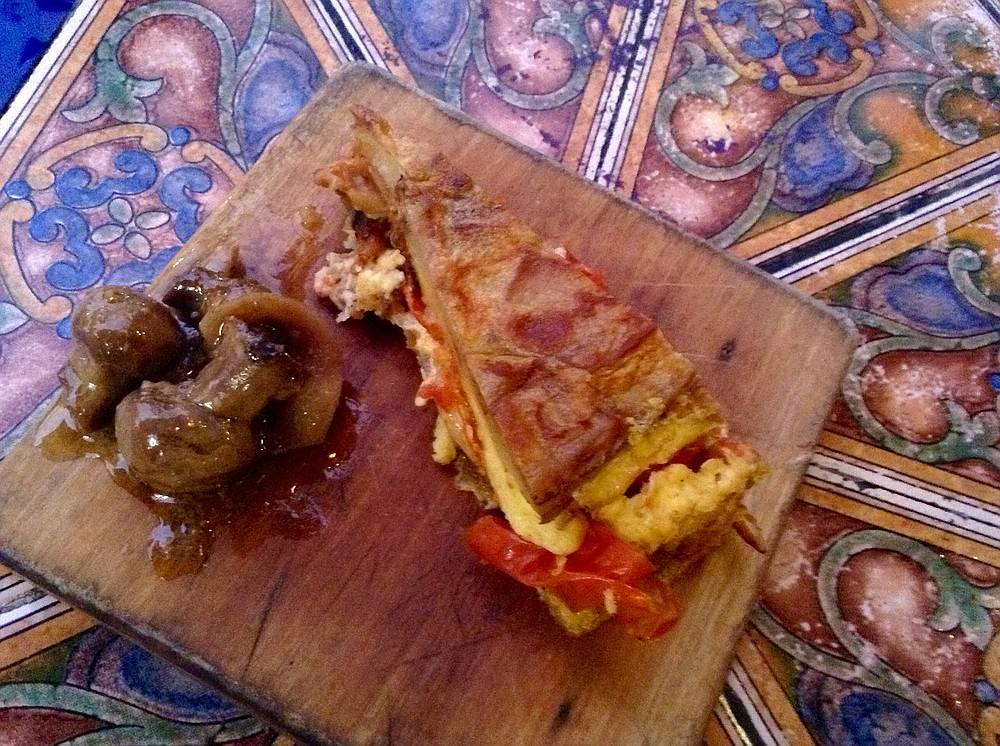 Bite-size version of the famous tortilla Española. Surprisingly filling!
