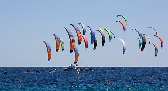 Once the roads improved, windsurfers and kiteboarders came.
