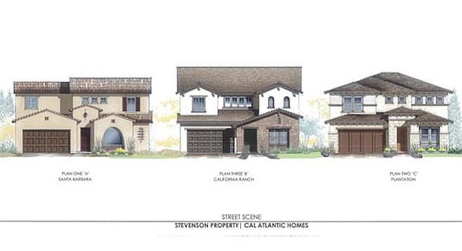 The developer is offering three home styles: Santa Barbara, California Ranch, and Plantation