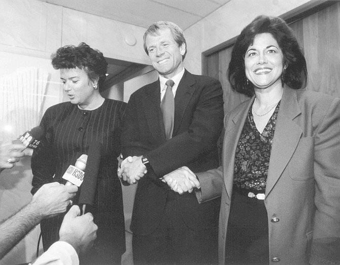 Maureen O'Connor, Peter Navarro, Susan Golding. The only thing that the reclusive ex-mayor would do in this campaign was mail me a campaign donation and then go blow ten grand at the Jackie O auction.
