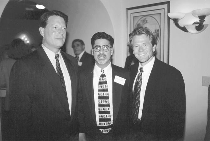 Al Gore, Michael Portantino, Peter Navarro. The Gore event almost didn't come off at all, because at one point my gracious host Chuck Davenport nearly pulled the plug.