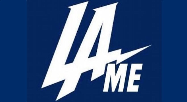 The new Chargers logo (presumably modified by a disappointed fan)
