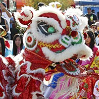 The Lunar New Year Festival offers lion dances, concerts, and the Miss Asia Beauty Pageant at Qualcomm