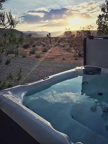 A secluded hot tub and view for $70 a night. Not bad.
