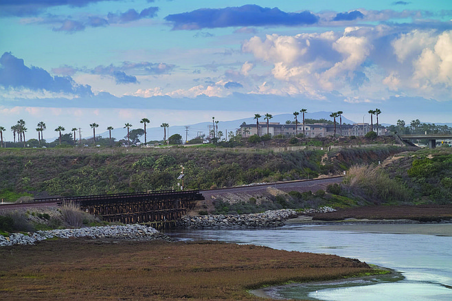 Batiquitos Lagoon Ecological Reserve, off Gabbiano Lane in Carlsbad. In his third edition, Jerry Schad declared that it remained to be seen if the restoration could be sustained.