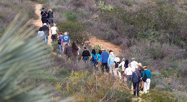 """Canyoneers in Florida Canyon. """"We asked people to write about hikes already done. We had 75 to 100 write-ups in the county."""""""