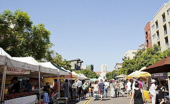 No market starts out like an average day at Little Italy's farmers' market.