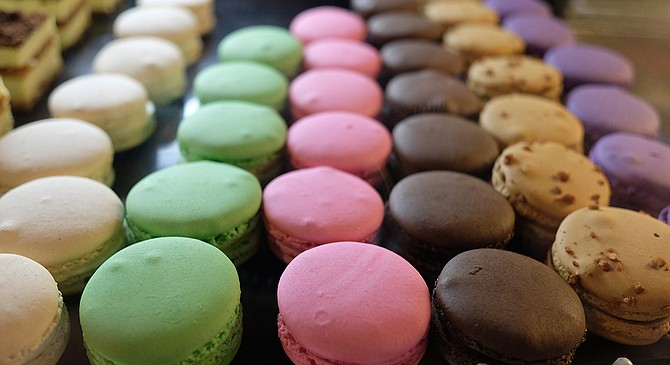 The colorful macarons of Heaven Sent Desserts remain.