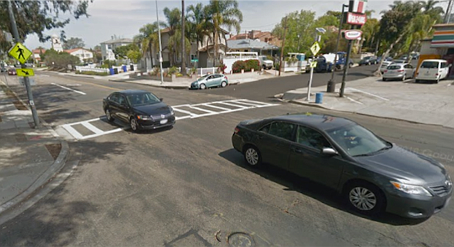 Intersection of La Jolla Boulevard and Westbourne Street