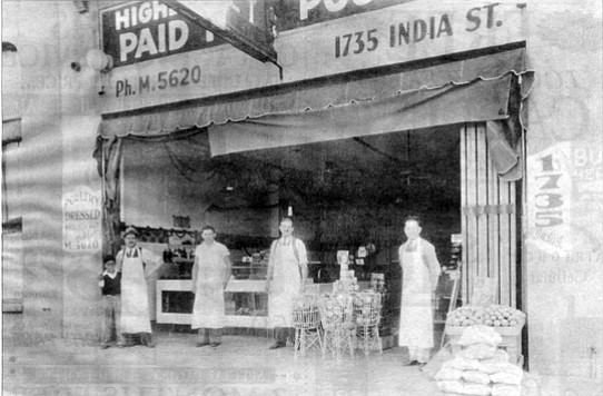 Tait's market, 1735 India Street, four doors down from 1753 India Street bombing