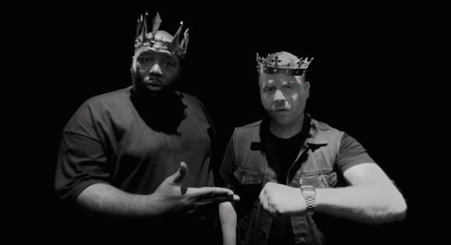 Rap duo Run the Jewels will rock the Observatory mics Monday night!